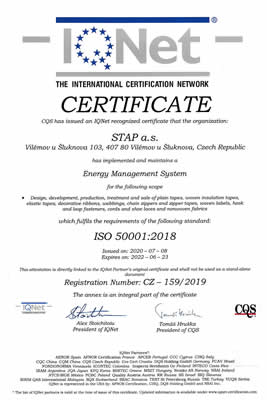 IQNET ISO 50001:2018